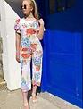 Sooley Designs Flutter Sleeve Jumpsuit - Floral