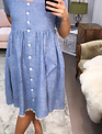 Sooley Designs Blue Linen Dress