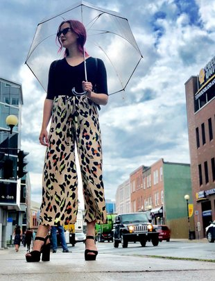 Sooley Designs Pull String Pants - Leopard