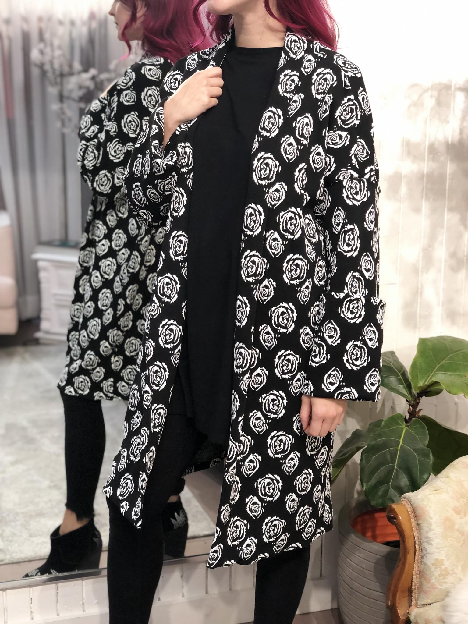 Sooley Designs Cooper Sweater - B&W Rose