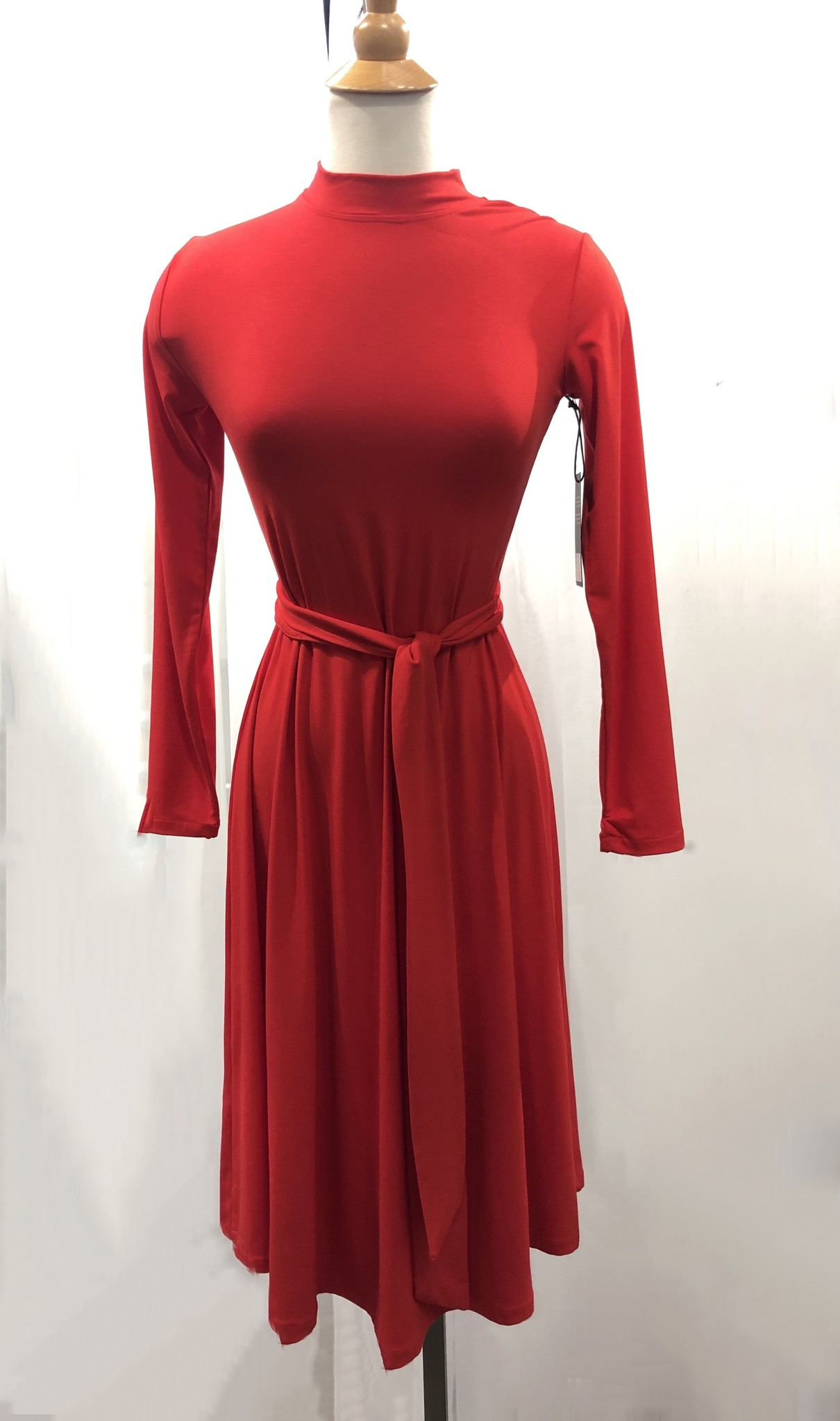Sooley Designs Mock Neck Betty Dress - Bamboo
