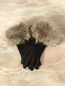 Sooley Designs Leather Gloves with Fur Trim