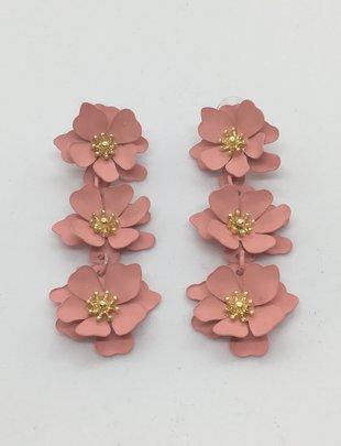 Sooley Designs Triple Anemone Flower Drop Earrings
