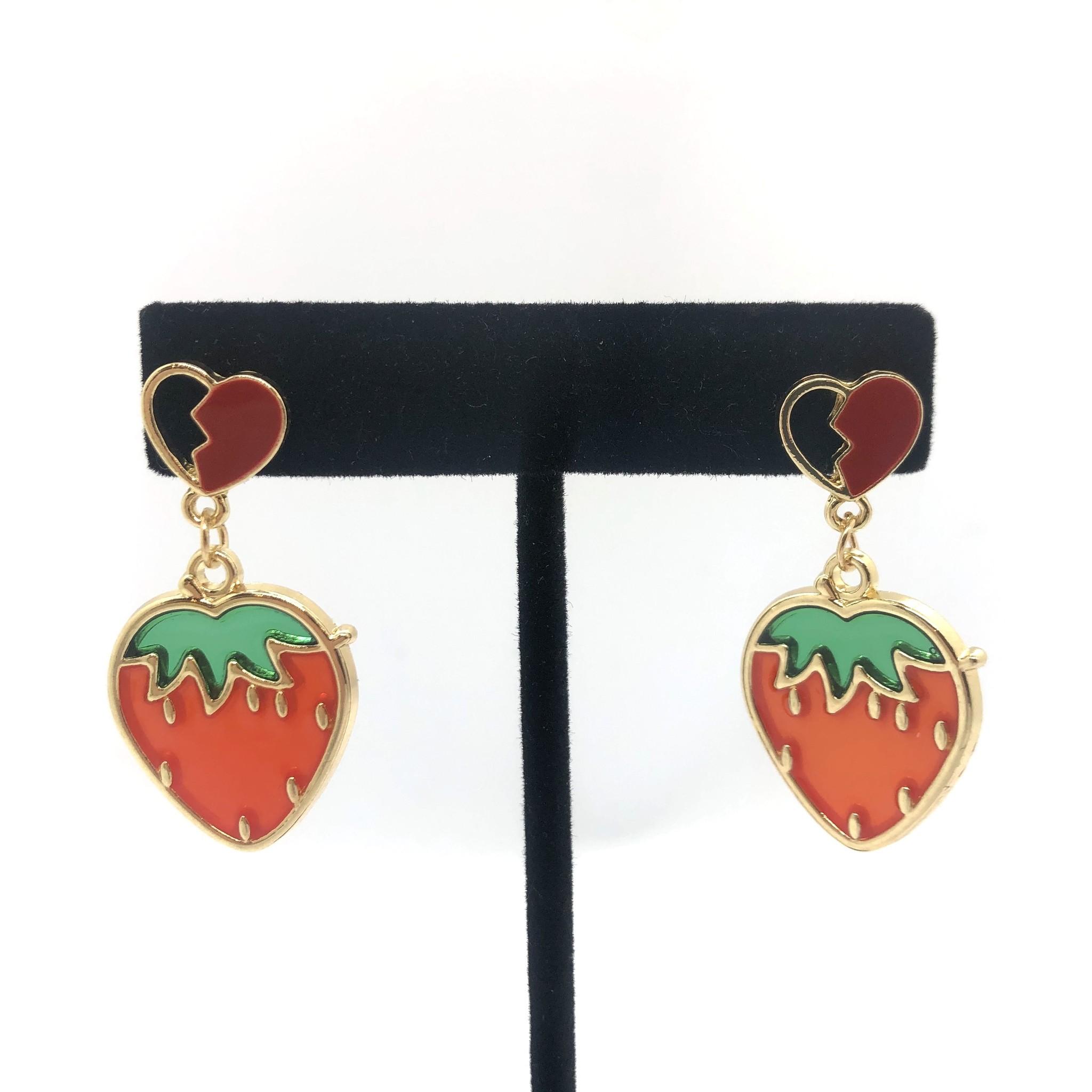Sooley Designs Strawberry Hearts Earrings