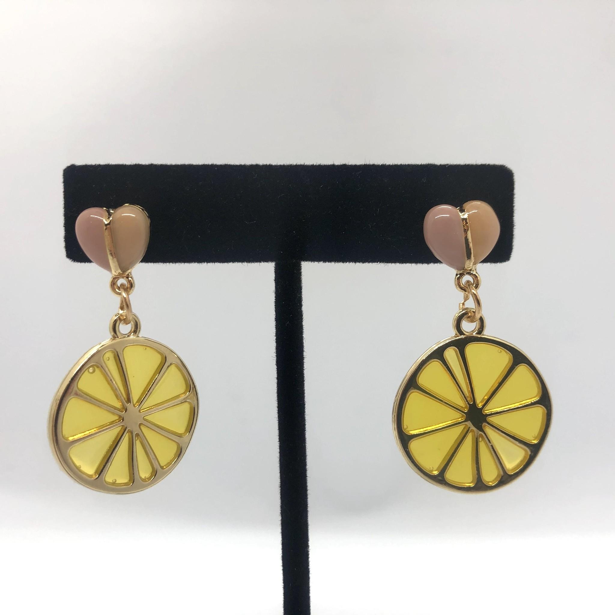 Sooley Designs Lemon Hearts Earrings