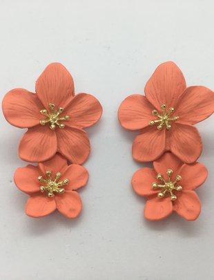 Sooley Designs Hibiscus Flower Earrings