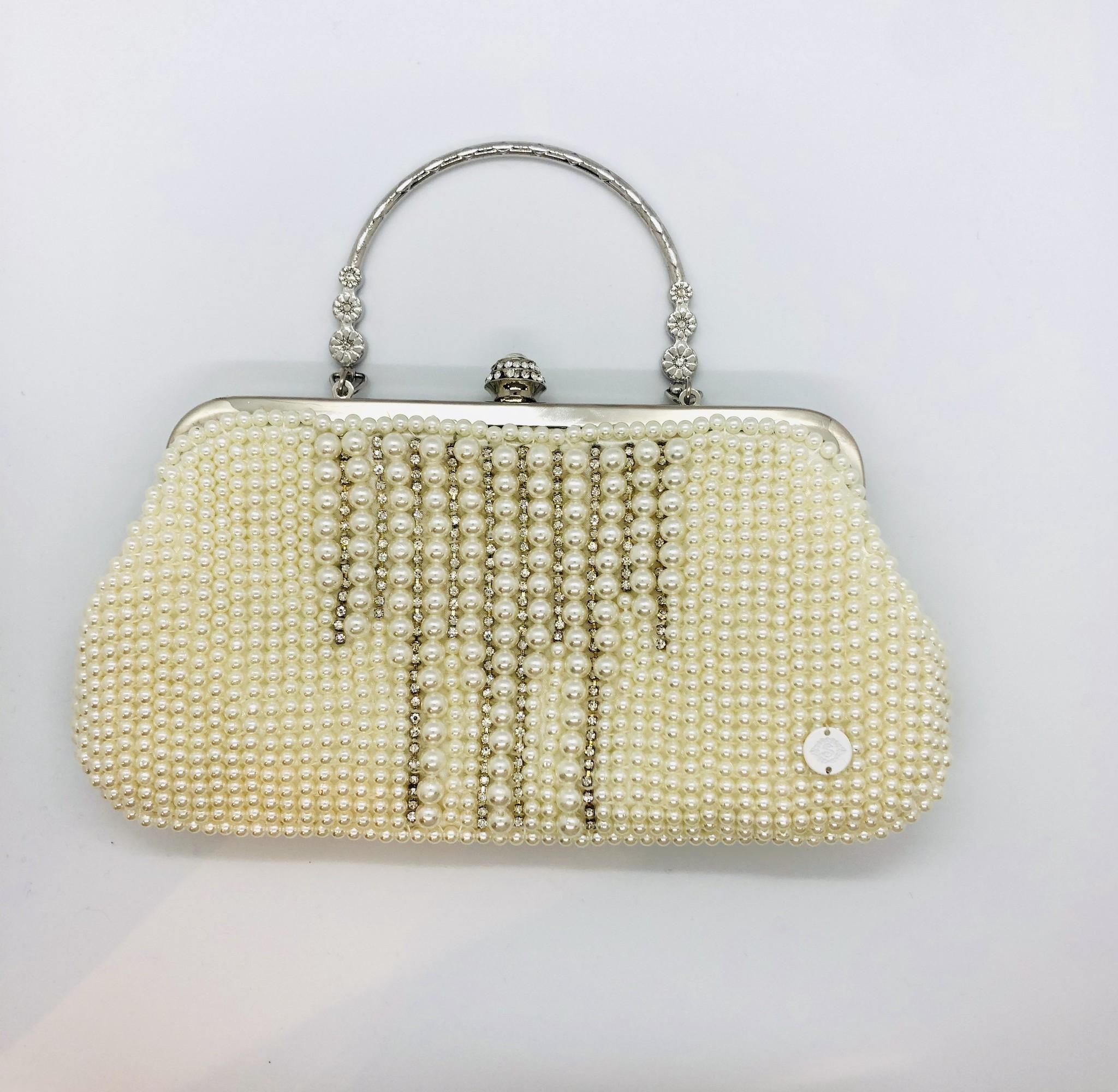 Sooley Designs Beaded Pearl Evening Bag