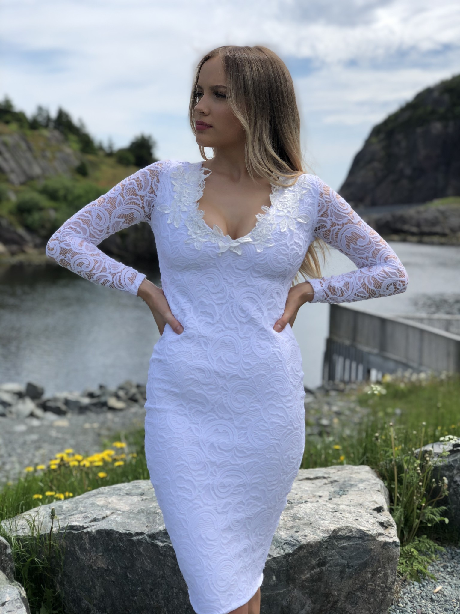 Sooley Designs Long Sleeve Pencil Dress