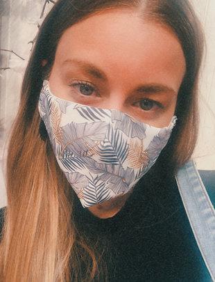 Sooley Designs Shedder Face Mask- Leaf Pattern