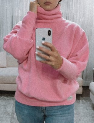 Mavis Sweater- Pink Fleece