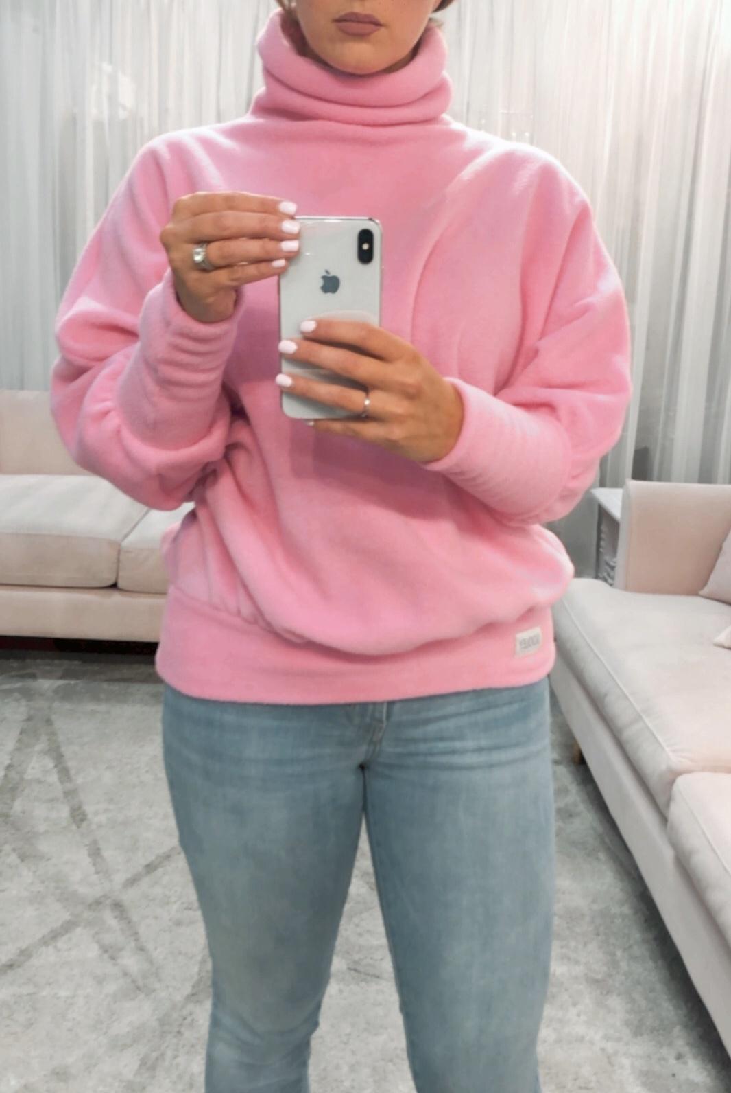 Mavis Sweater- Pink Fleece