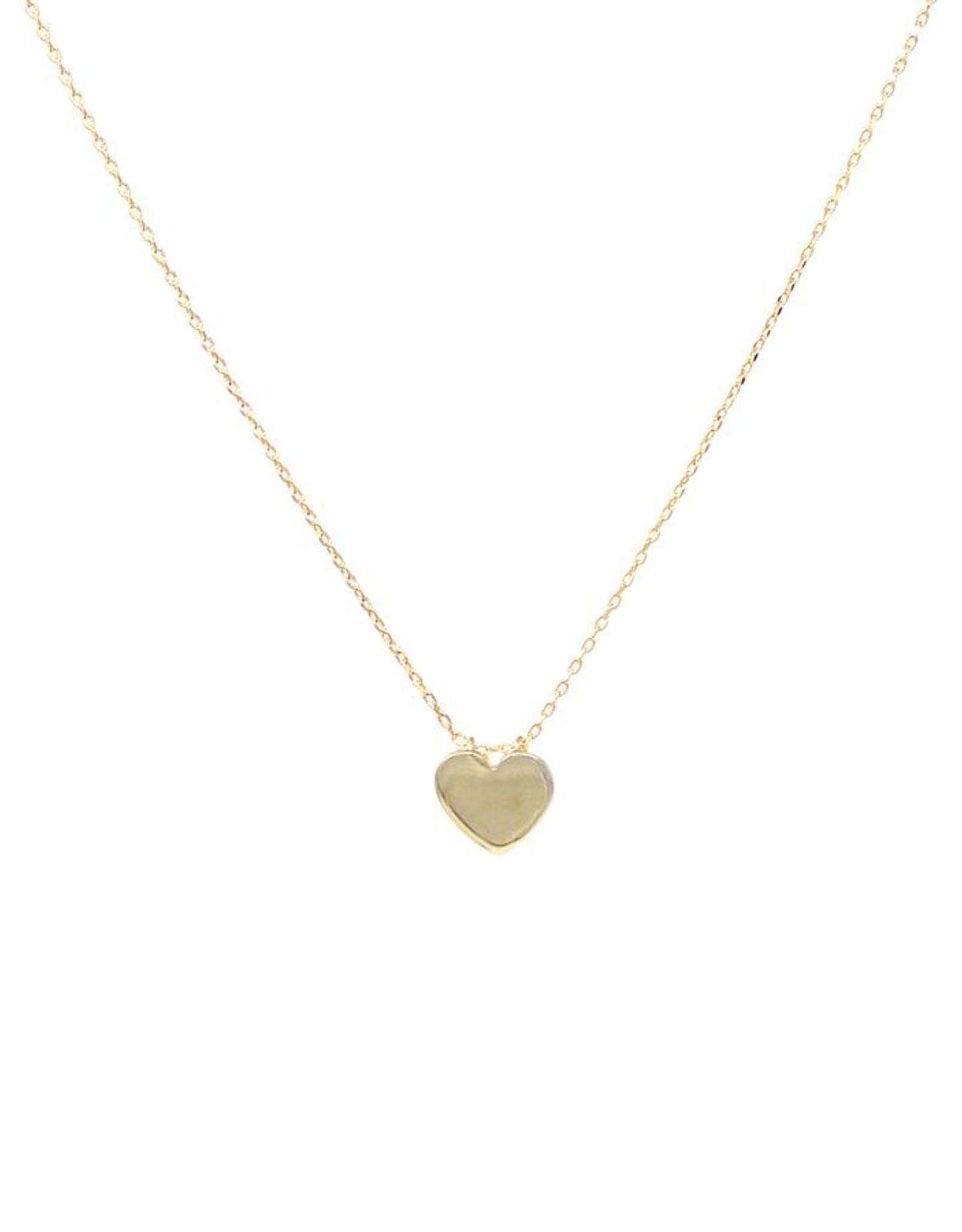 Metal Heart Pendant Short Necklace