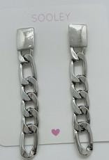 Link Chain Drop Earrings -