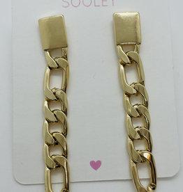 Link Chain Drop Earrings