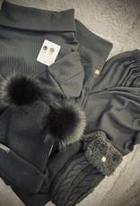 Cashmere Hat Medium Double Pom
