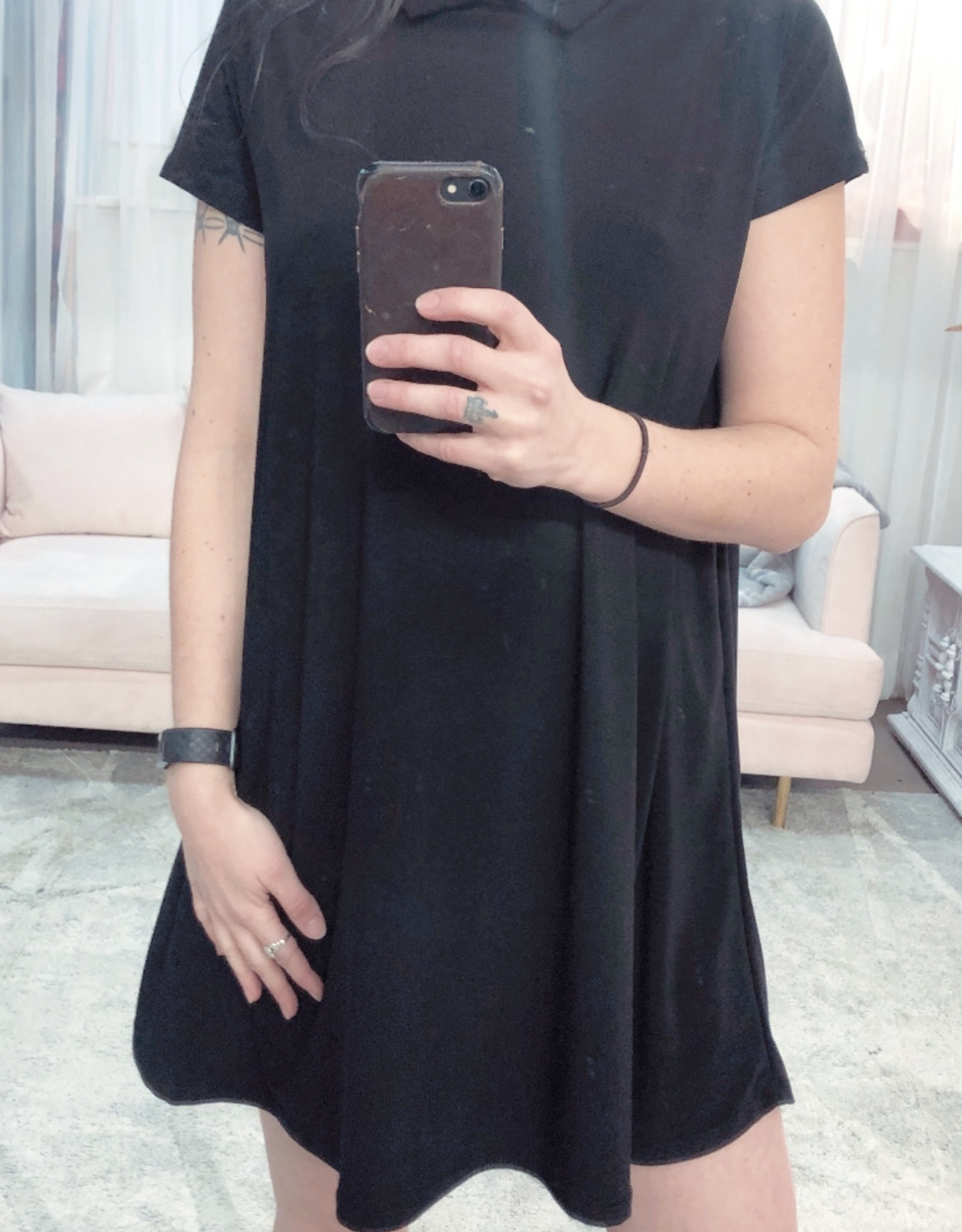 Short Sleeve Collared Aurora Dress-
