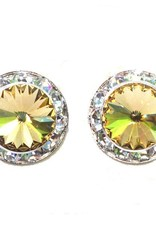 Crystal Earrings With Halo