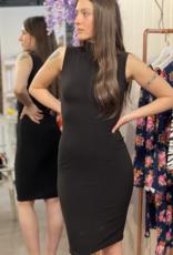 Sleevless Turtleneck Pencil Dress