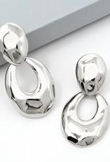 Hammered Metal Drop Earrings