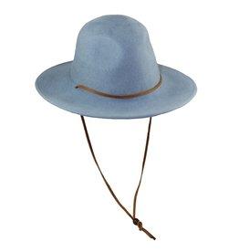 Wide Brim Hat - Blue