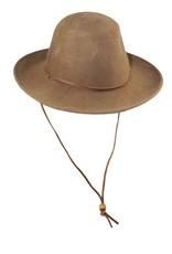 Wide Brim Hat - Brown
