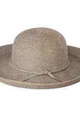 Black Tweed Straw Hat