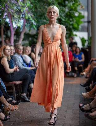 Sooley Designs ARES Dress Tea Length (Tangerine)
