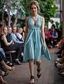 THALIA Circleskirt dress (Bahama Blue)