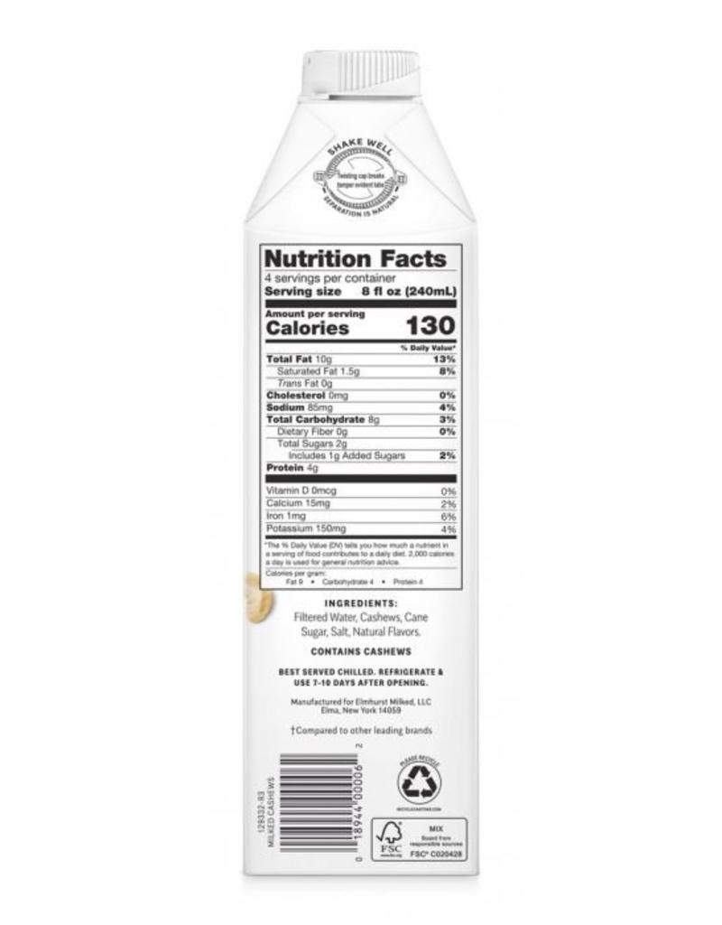 Elmhurst Milked Cashews - 946ml