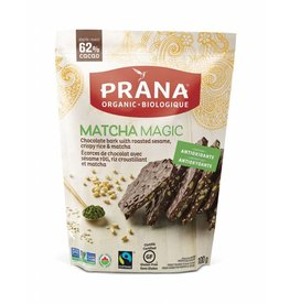 Prana Organic 62% Chocolate Bark - Matcha Magic - 100g