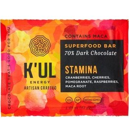 "K'ul Chocolate Superfood Energy Bar ""STAMINA"" 70% Dark Chocolate - 42g"