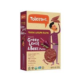 Tolerant Organic Green Lentil + Beet Penne - 227g