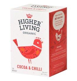 Higher Living Organic Teas Organic Cocoa & Chili Tea - 15's