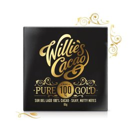 Willie's Cacao Pure 100% Gold Bar - 40g