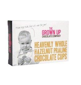 Grown Up Chocolate Company Heavenly Whole Hazelnut Praline Cups - 75g