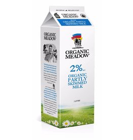 Organic Meadow Organic Partly Skimmed 2% Milk - 1L