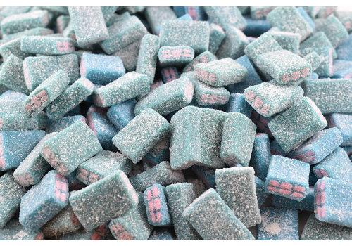 Mondoux Sour Blue Rasberry and Bubble Gum Bricks