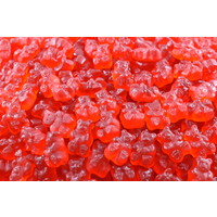 Ourson framboise rouge