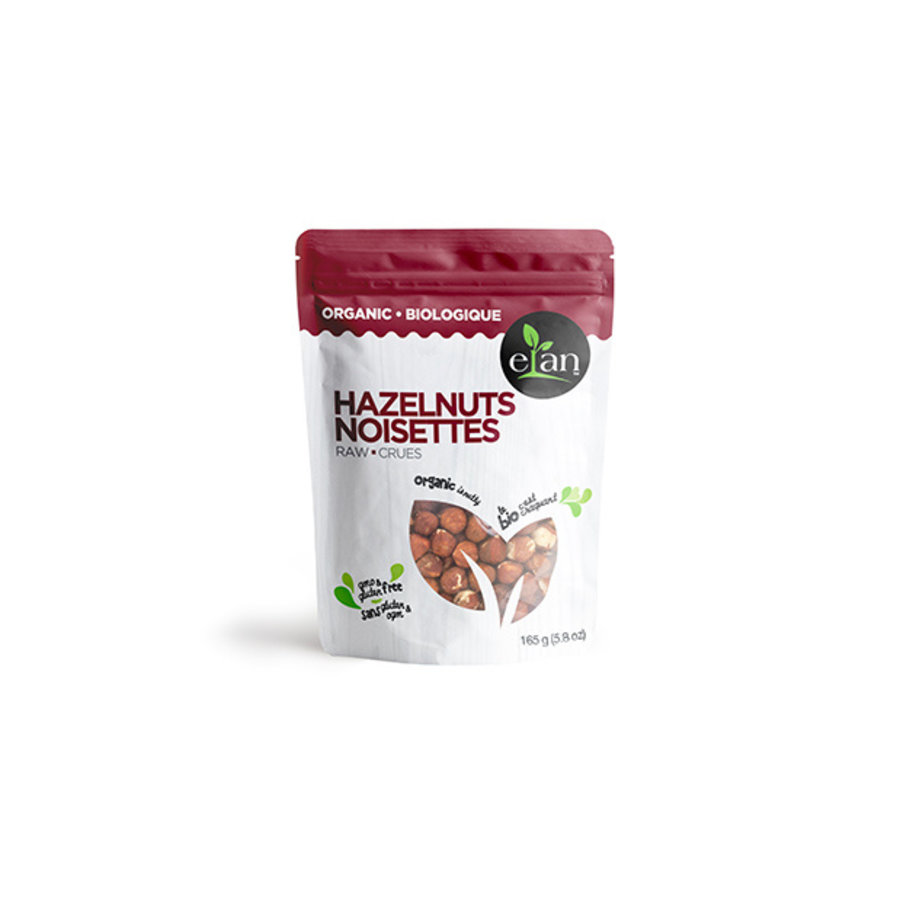 Elan Organic Raw Hazelnuts 165g