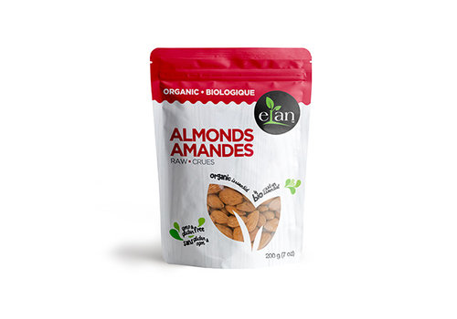 Elan Organic Raw Almonds 200g