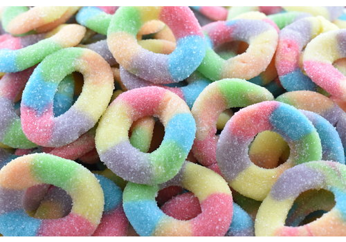 Ludik Sour Multicolour Rings