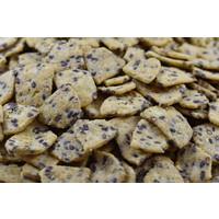 Grignotines graines de lin salées