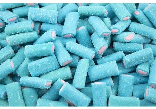 Ludik Sour Blue Raspberry Filled Sticks 1kg