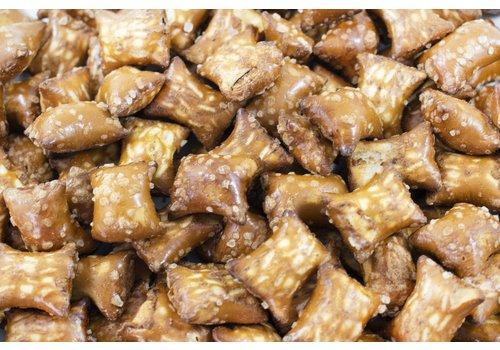 Bretzels farcies au beurre d'arachides