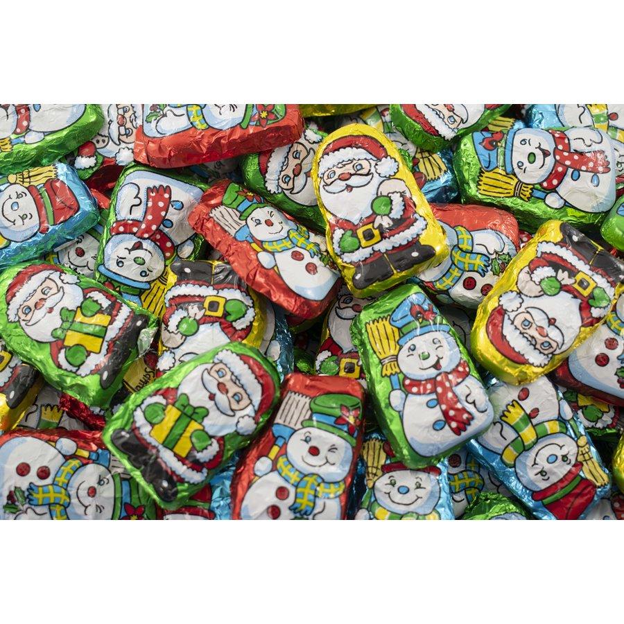 Père Noël et bonhomme de neige chocolat