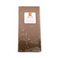 Barre chocolat au lait fleur de sel 90g