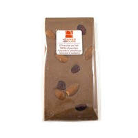 Barre chocolat au lait amandes & canneberges 100g
