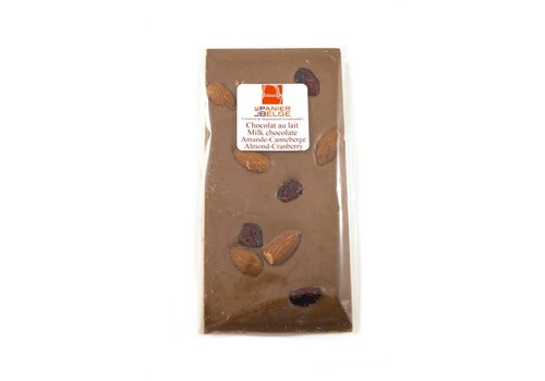 Almond-Cranberry Milk Chocolate Bar 100g
