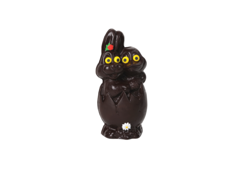 Chocolats Lulu Chocolat noir 70% Lulu Lapin canard-oeuf 220g