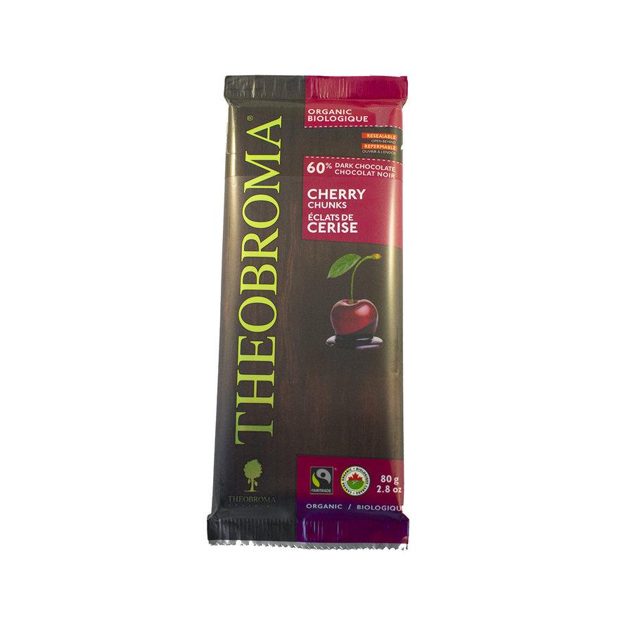 Chocolat noir 60% cerise bio vegan sans gluten